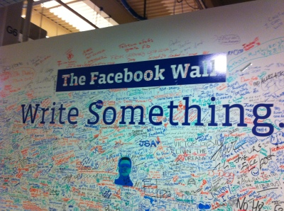Facebook Wall in Menlo Park